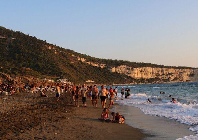 Une plage syrienne