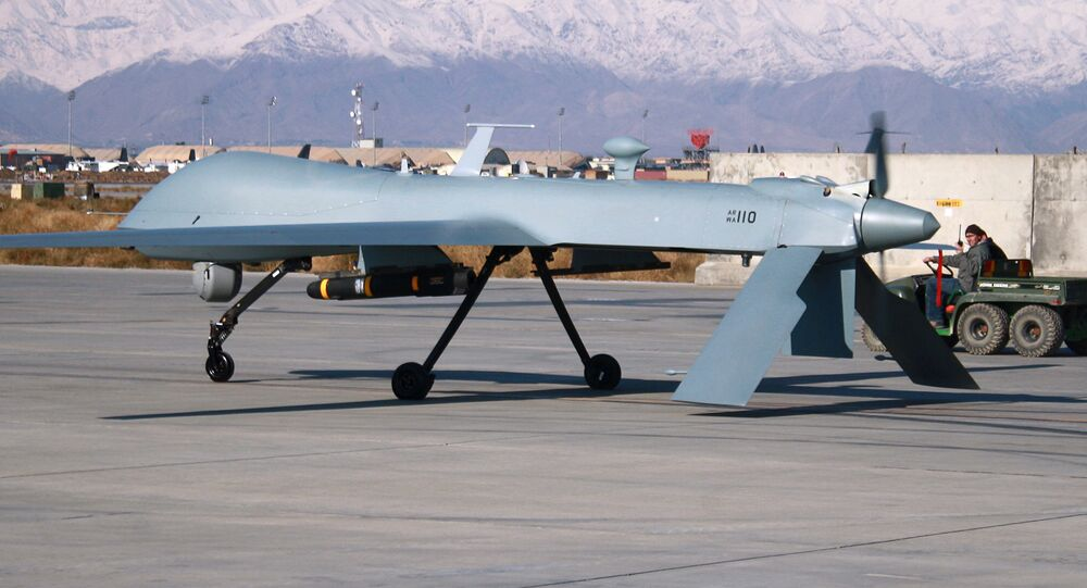 Un drone américain Predator en Afghanistan