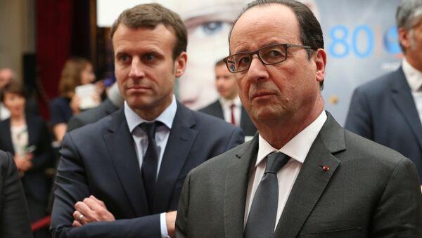 François Hollande et Emmanuel Macron - Sputnik France