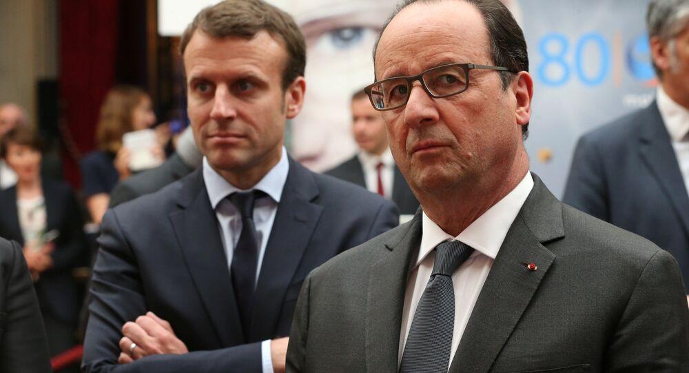 François Hollande et Emmanuel Macron