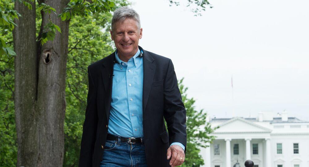 Le candidat du Parti libertarien à la présidentielle américaine Gary Johnson