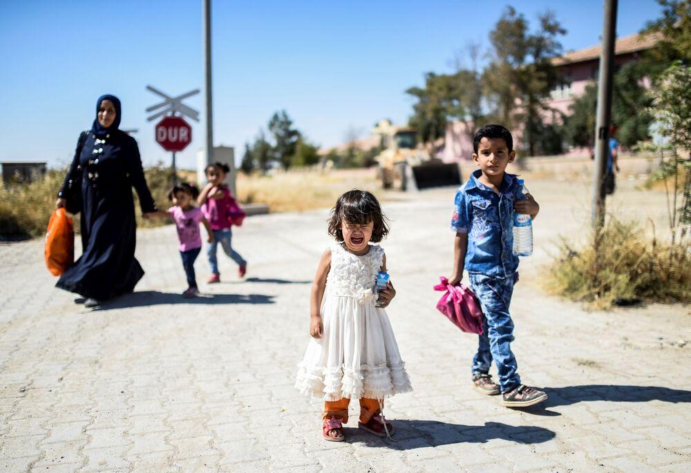 Des réfugiés reviennent dans le ville syrienne de Jerablus