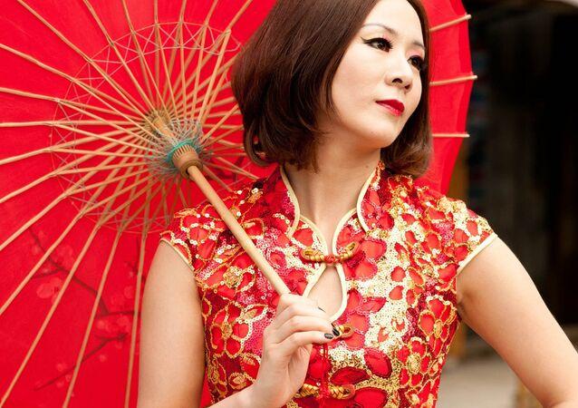 Une Chinoise. Image d'illustration