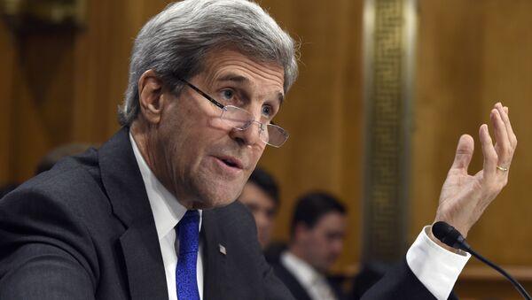 Secretary of State John Kerry testifies on Capitol Hill in Washington, Tuesday, Feb. 23, 2016. - Sputnik France