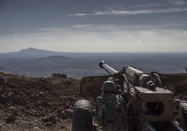 Un poste d'observation dans la province syrienne de Quneitra