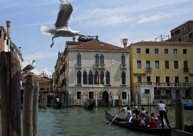 Une vue de Vénice, Italie