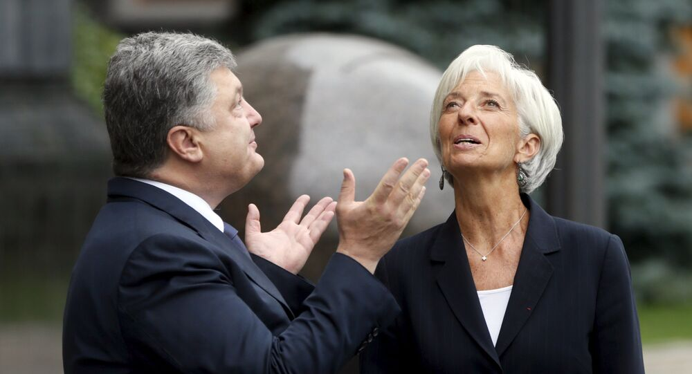 Petr Porochenko et Christine Lagarde