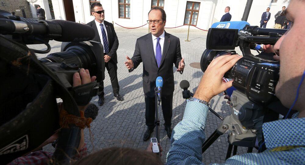 François Hollande à Bratislava