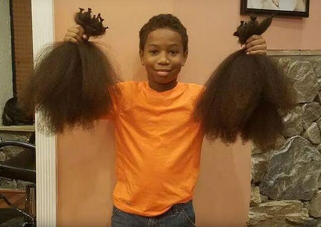 This 8 Year Old Boy Spent 2 Years Growing His Hair To Make Wigs For Kids With Cancer