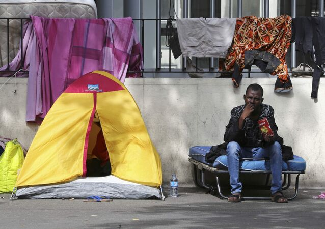camp de migrants à Paris