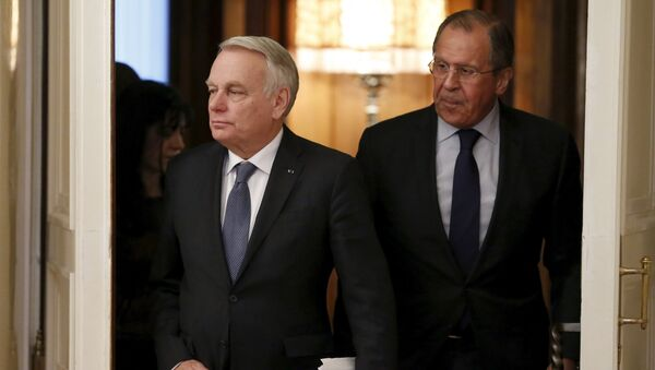 Jean-Marc Ayrault et Sergueï Lavrov - Sputnik France