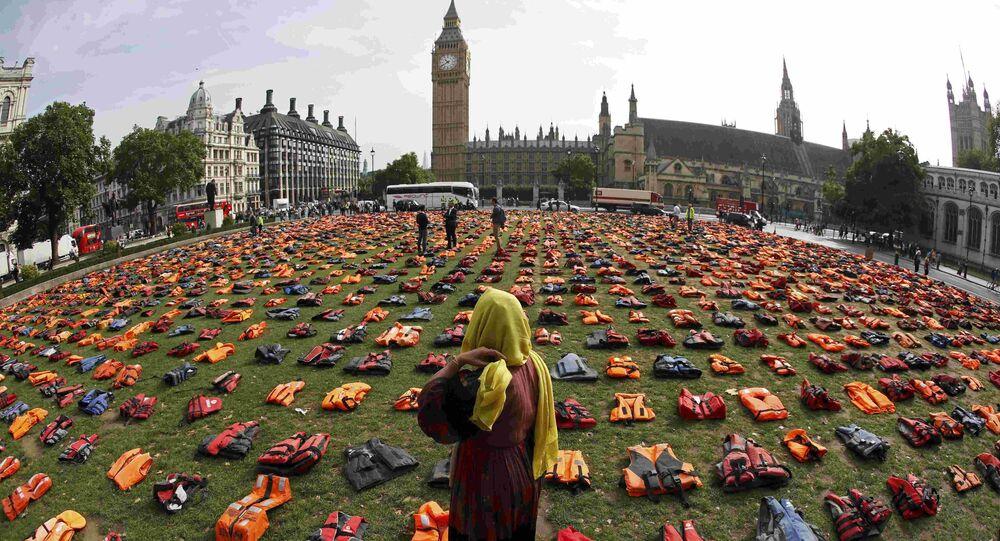 Les gilets de sauvetage à Londres