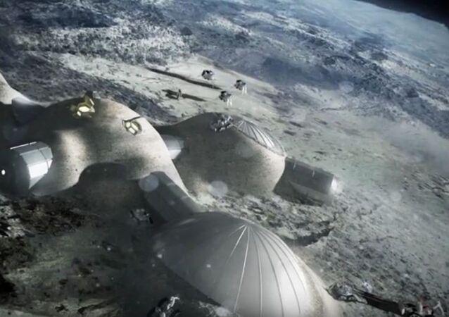L'image d'illustration d'un Village lunaire par l'Agence spatiale européenne