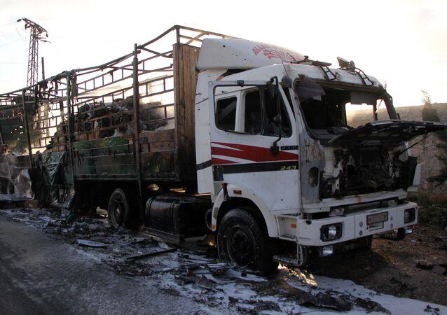 Convoi humanitaire onusien bombardé à Alep: plusieurs victimes