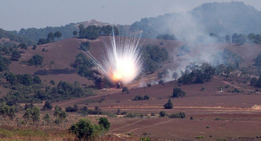L'utilisation de munitions incendiaires, image d'illustration