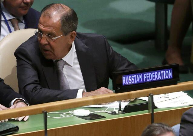 Sergueï Lavrov à l'AG de l'Onu