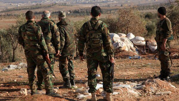 Syrische Soldaten in der Nähe des Luftstützpunktes Deir ez-Zor (Archivbild) - Sputnik France