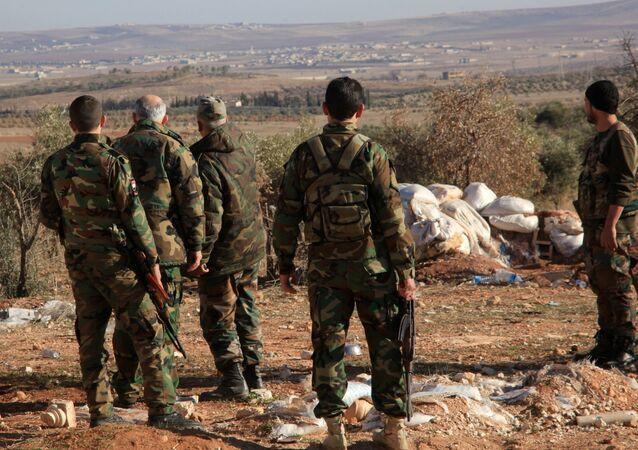 Des soldats syriens. Image d'illustration