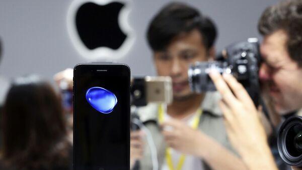 iPhone 7 на презентации новых продуктов компании Apple в Сан-Франциско - Sputnik France