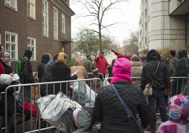 Des migrants à Berlin