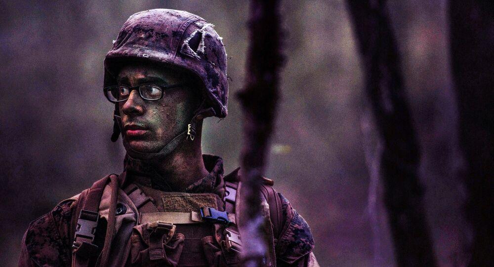 Soldat de l'armée US. Image d'illustration