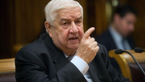 Le ministre syrien des Affaires étrangères Walid Mouallem - Sputnik France