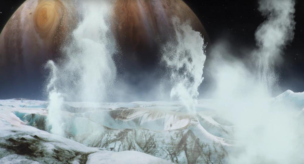 Geysers sur une lune de Jupiter