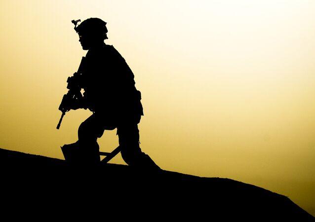 un soldat US en Irak