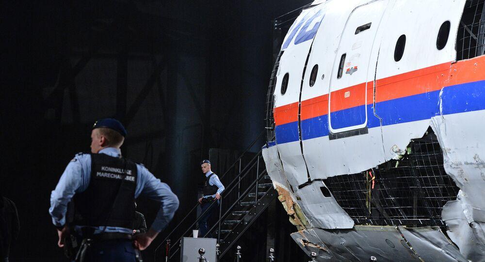fragment de l'avion du vol MH17
