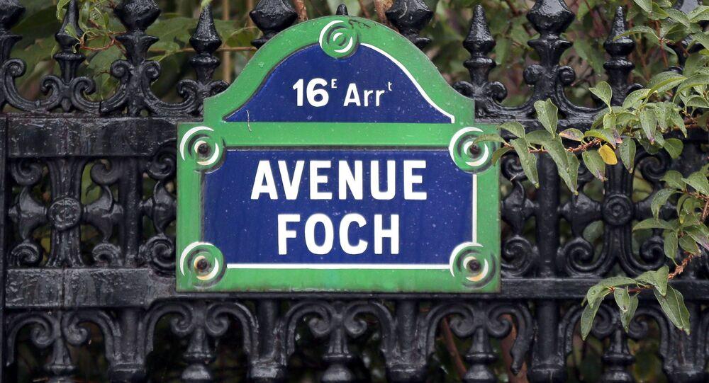 Plaque de rue, Avenue Foch, Paris