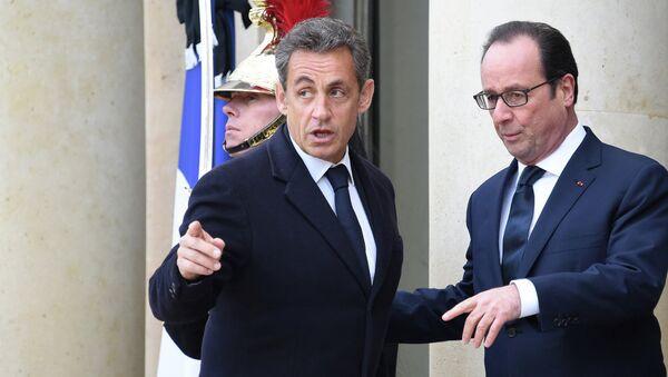 Nicolas Sarkozy et François Hollande - Sputnik France