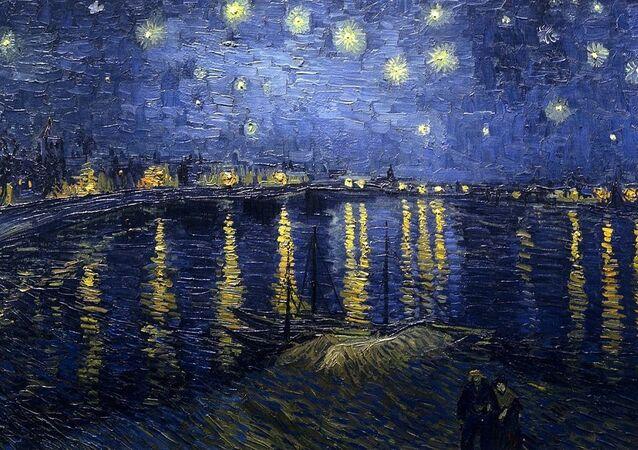 Vincent van Gogh, Nuit étoilée sur le Rhône (1888)
