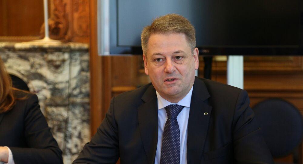 Le ministre autrichien de l'Agriculture, Andrä Rupprechter