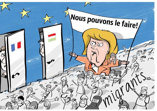 Angela Merkel accusée de trahison lors d'un déplacement à Dresde