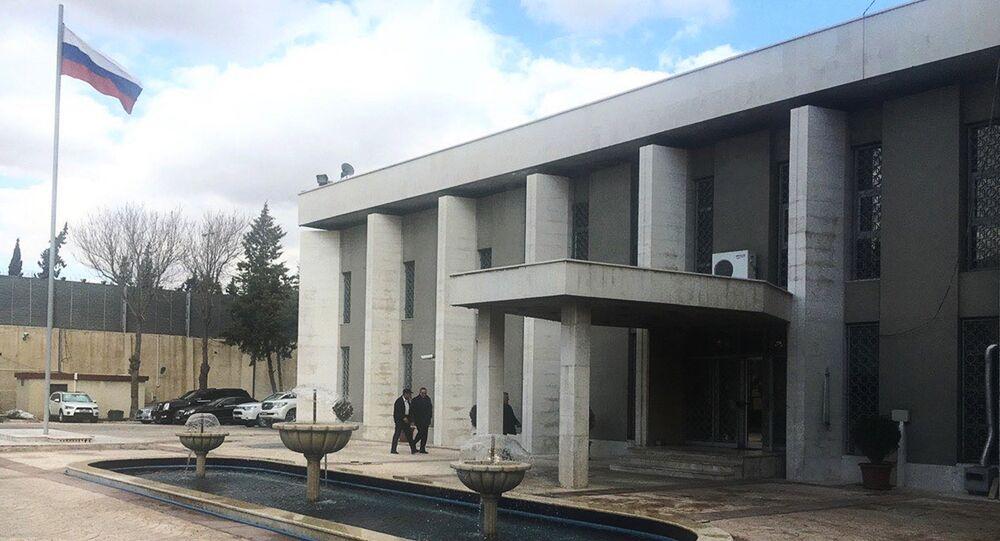 L'ambassade de Russie à Damas