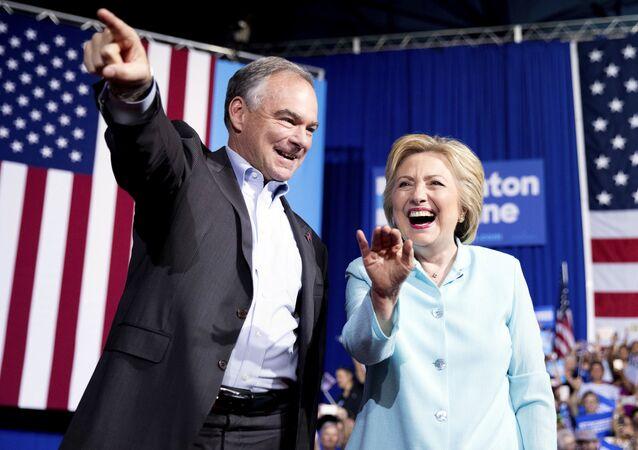 Hillary Clinton et Tim Kaine