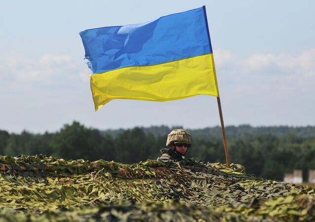 Soldat ukrainien, image d'illustration