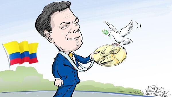 Le Nobel de la paix attribué au président colombien Santos - Sputnik France