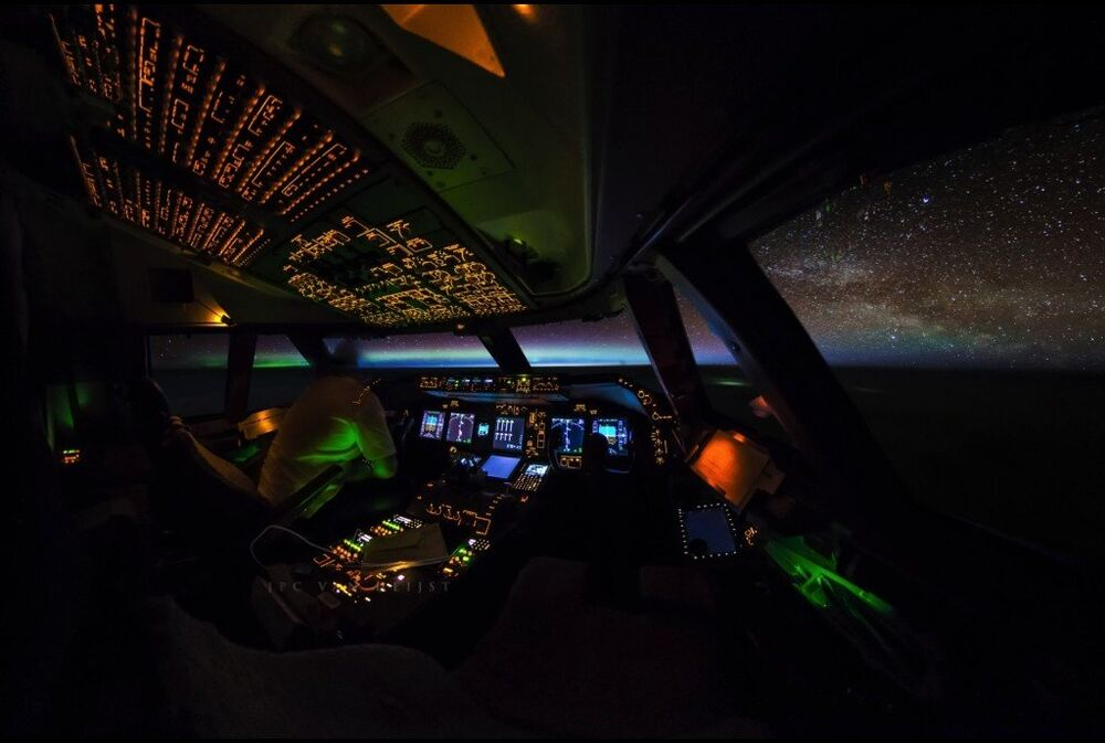 Orages et aurores boréales: les photos captivantes d'un pilote professionnel