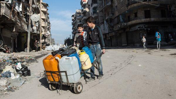 Des habitants d'Alep - Sputnik France