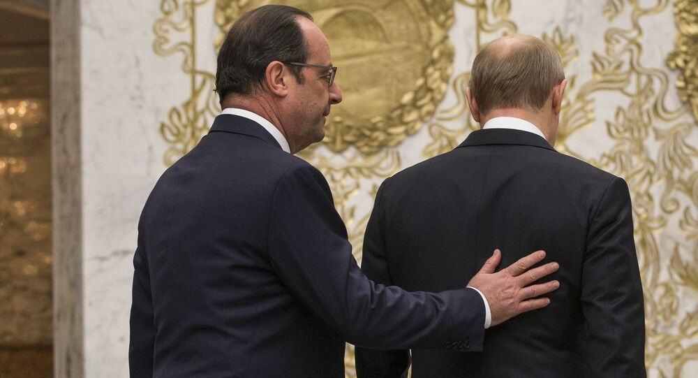 François Hollande et Vladimir Poutine. Archive photo
