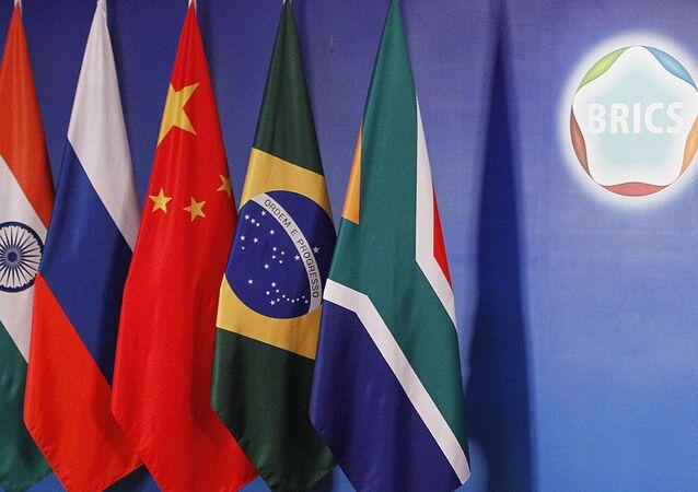 Les drapeaux des BRICS