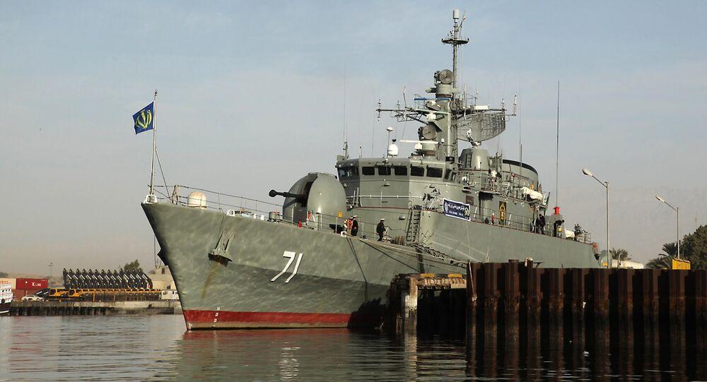 Le destroyer Alvand. Archive photo