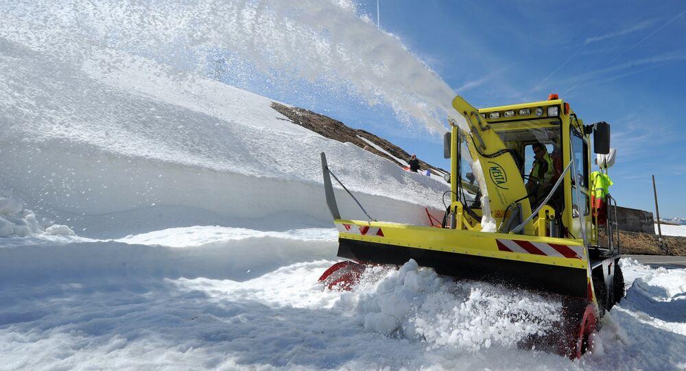 Un chasse-neige, Image d'illustration