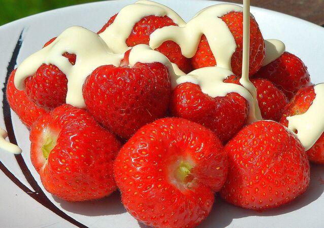 fraises à la crème