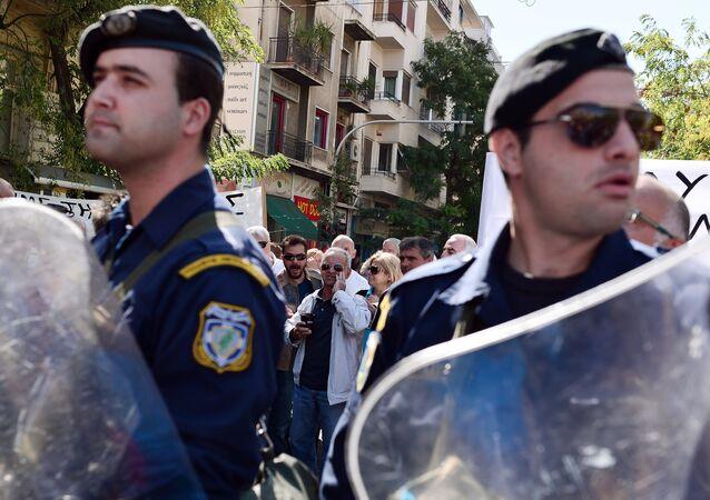 Police à Athènes