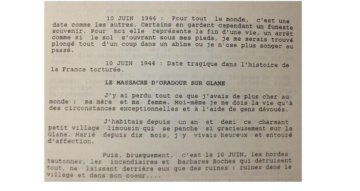 Le manuscrit de Marcel Darthout