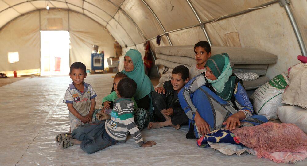 Réfugiés ayant fui Mossoul