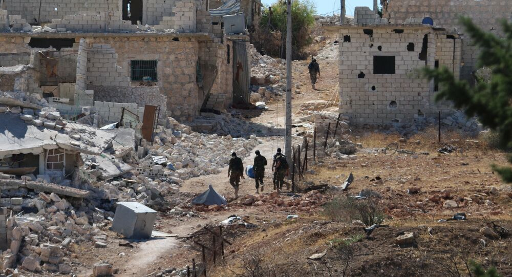 Le camp de réfugiés de Handarat, au nord d'Alep