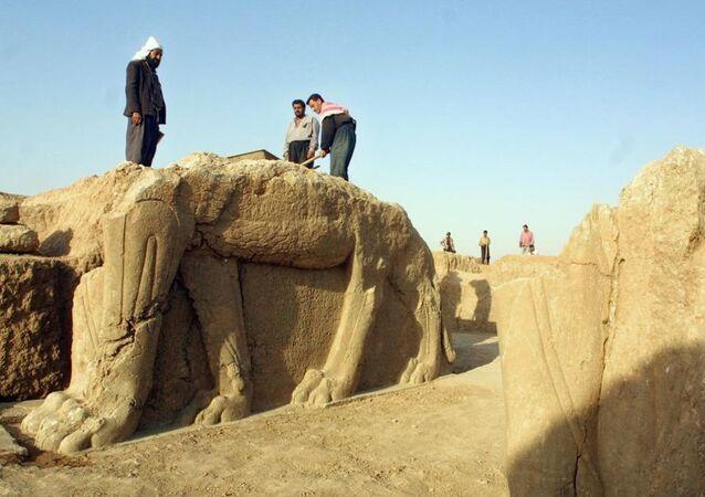Un site archéologique à Nimrud